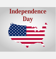 Independence day in the united states of america vector