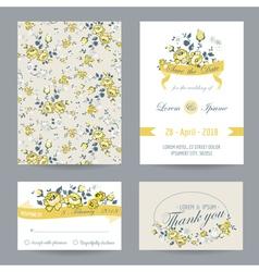 Invitation or congratulation card set vector