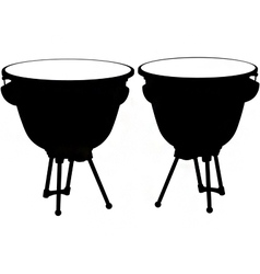kettle drum silhouette vector image
