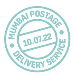 Mumbai postage stamp vector