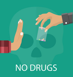 No drugs concept vector