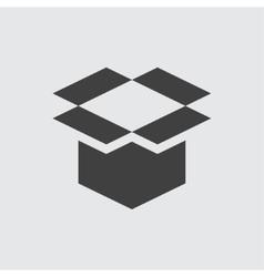 Open box icon vector image
