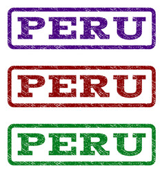 Peru watermark stamp vector
