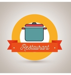 Pot cook resturant icon vector