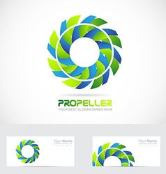 Propeller logo flower vector