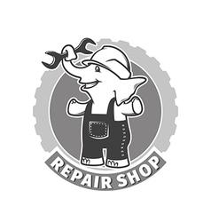 repair shop vector image