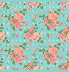 Seamless pattern of blooming roses vector