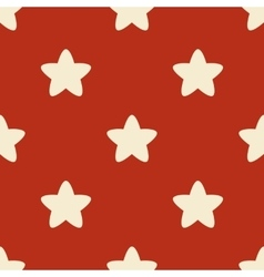 Seamless pattern with stars on red backgrond vector image vector image