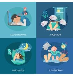 Sleep time flat vector