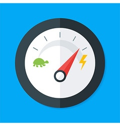 Speedometer Modern Flat Style vector image