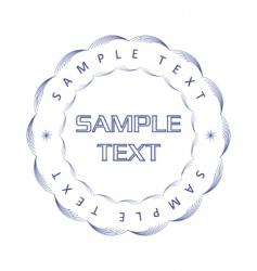 vector guilloche print vector image