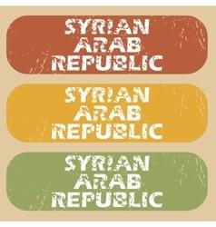 Vintage syrian arab republic stamps vector
