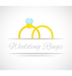 Wedding rings card vector image vector image