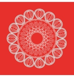 White mandale icon bohemic design graphic vector