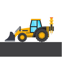 Yellow transport picture vector