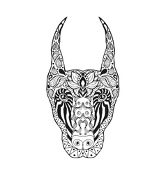 Zentangle stylized doberman vector image vector image