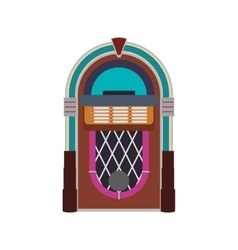 Jukebox technology retro vintage icon vector