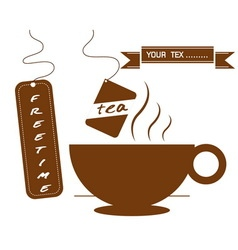 Hot drinks coffee and tea vector