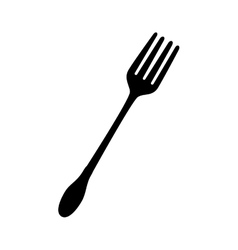 Fork utensil dining eat icon vector
