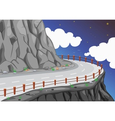 a road on the mountain edge vector image