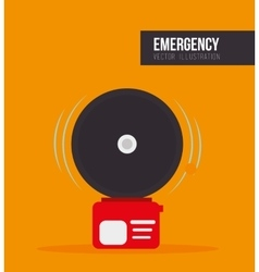 Alarm fire emergency vector