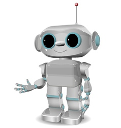 Cheerful plastic robot vector