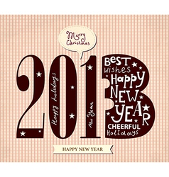 Typographic greeting card vector