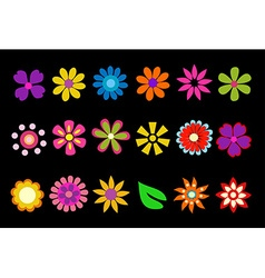 Colorful spring flowers vector