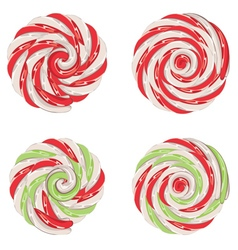 Christmas lollipops set vector