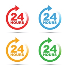 colour set 24 hours vector image
