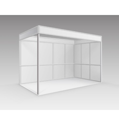 White blank indoor trade exhibition booth stand vector