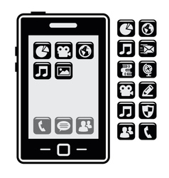 Smartphone with application vector