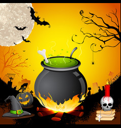 Halloween Cauldron vector image