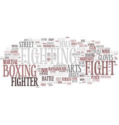 Fighting word cloud concept vector