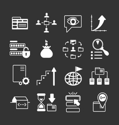 Set icons of seo web and internet vector