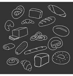 Different varieties of bread vector