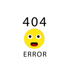 404 connection error with face emoticon or emoji vector