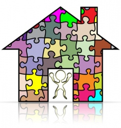 house puzzle vector image