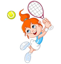 Cartoon tennis player vector