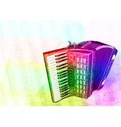 Accordion iridescen colours vector