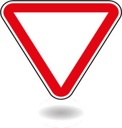 Sign mark in red triangle vector