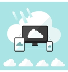 Cloud storage infographic vector