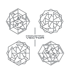 Set of geometric pattern vector