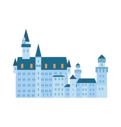 Scenic medieval city walls castle old tower vector