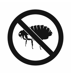No flea sign icon simple style vector image