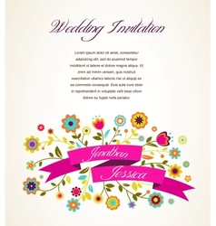 Greeting card invitation vector