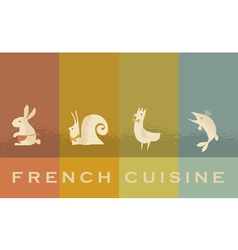 French cuisine red wine concept vector