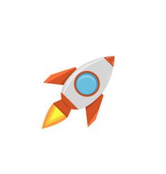 cartoon rocket space ship vector image