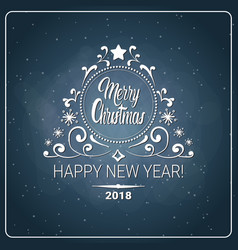 Christmas and 2018 new year flyer message chalk vector