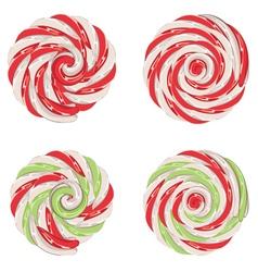 Christmas lollipops set vector